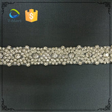 Wholesale bridal rhinestone saree border beaded ribbon trim