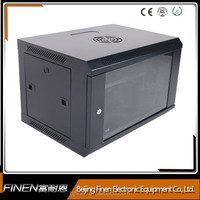 OEM 19 inch classic 9u wall mounted transparent computer cabinets