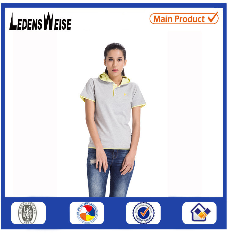 Nice style embroidered wholesale slim fit t shirt for women