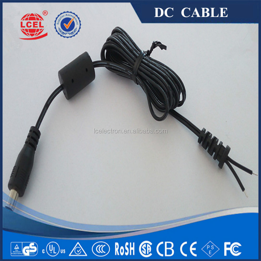 UL 2668 22AWG*2C 5.5X2.5mm/5.5X2.1mm 12v 24v copper power DC Cable