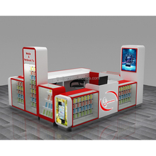 Factory custom mall kiosk for cell phone showcase display in hot sale