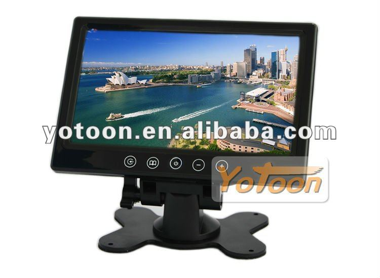 Car monitor--Touch button 7 inch stand-alone car monitor with 2 way video input stand alone monitor