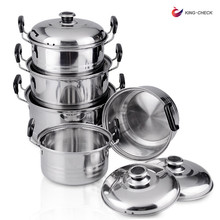Hot 5-piece durable stainless steel pressure cooker metal cooking pan portable stainless steel indian pot/pan set