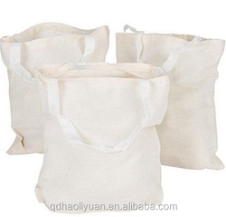 12 Tote Bags Cotton / Natural Color Shopping Bag