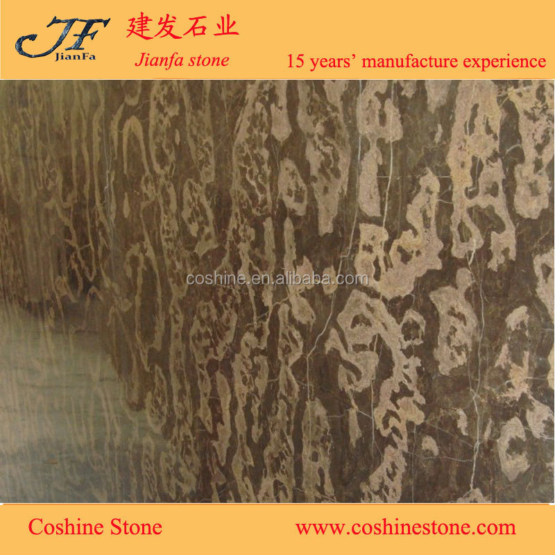 China cheap marble Slab Gold coffee brown marble in slabs