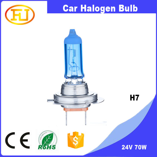 h7 halogen 24v 70w h1 adapter h7 super white h7 7000k car halogen bulb