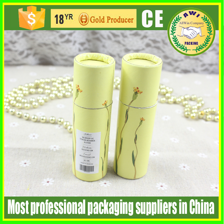 push up paper tubes deodorant wholesale lipbalm container eco-friendly with custom logo printed