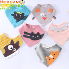 3D Cartoon Embroidered New Design Colorful Soft Baby Bibs