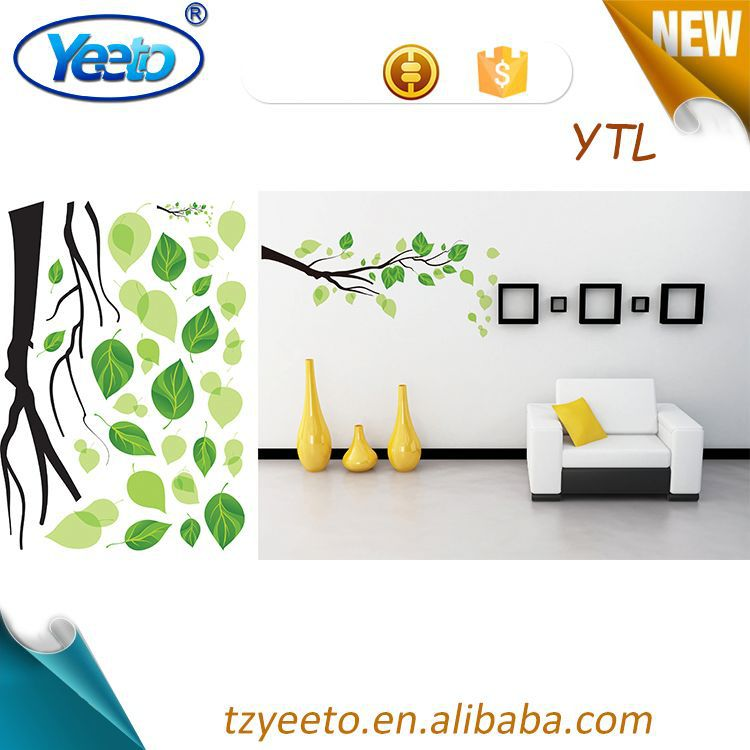 2015 funny children bedroom sticker,height tree stickers,wholesale reusable tree wall decal