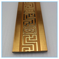 Graceful golden plastic wall panel mouldings/ps panel mouldings/decorative ceiling panel