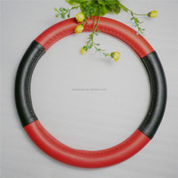PVC steering wheel cover hot sale litchi grain foam