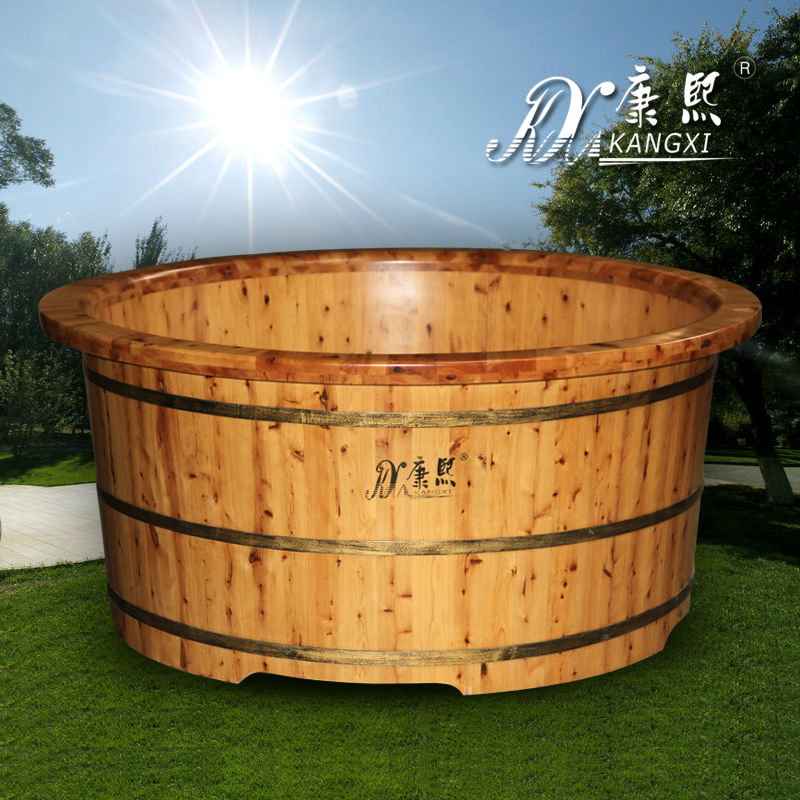 High-end grade wooden bathtub from China, luxurious wooden bathtub,mexico i person outdoor hot tub