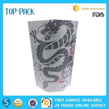 Laminated stand up ziplock aluminium foil packaging pouch for herbs
