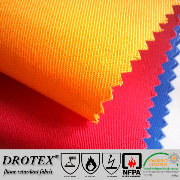 Hot sale in Europe market heavy duty flame retardant specialized fabric for FR frocks