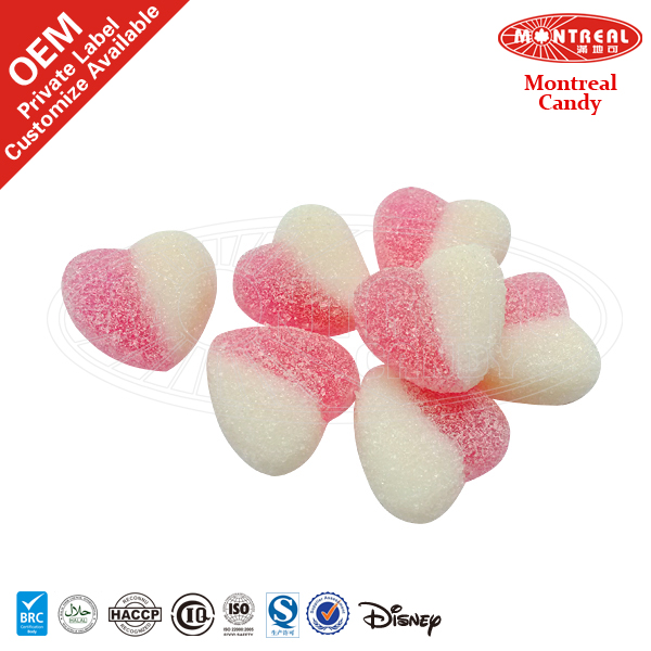Sour Heart Shaped Gummy Candy