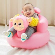 Inflatable baby-bath-sofa inflatable baby chair plastic inflatable baby bath chair Pink Monkey Air Chair for Kids