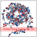 12 FT Patriotic Wire Frame Star Garland Metallic Party Decoration