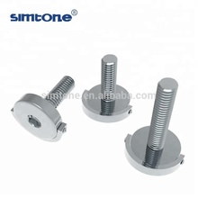galvanized carbon steel flat head D ring bolt machine screw with hex socket metric size m6 m8 m10