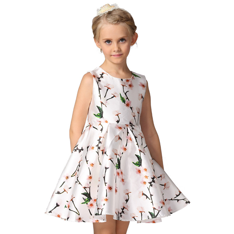 Kids clothing wholesale floral summer dress girls princess party dress <strong>L</strong>-<strong>111</strong>