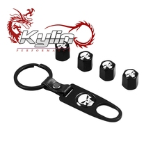 Kylin RACING New 4 X CAR WHEELS TYRE TIRE VALVE STEMS CAPS KEY CHAIN