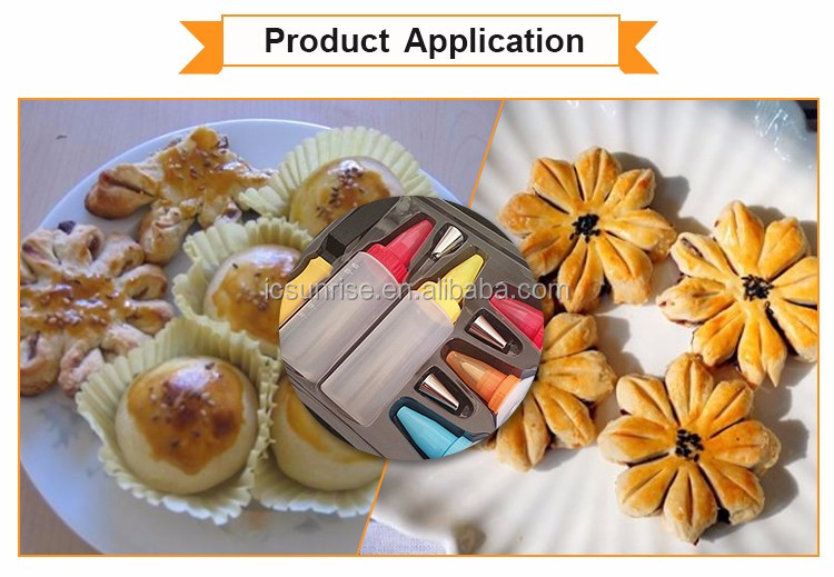 Plastic & Stainless Steel 6 Different Decorating Pastry Tools