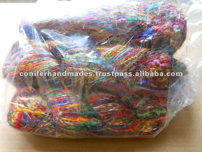 Sari Silk Ribbon Yarns in Balls