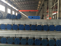 ASTM A500 Gr.B/C Hot dipped Galvanized ERW welded mild steel pipe/tube for construction