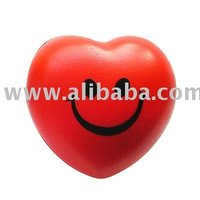 Smiling Heart Shaped PU Stress Ball