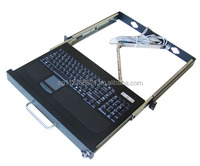 USB 1U 19'' Rackmount Keyboard with touch-pad