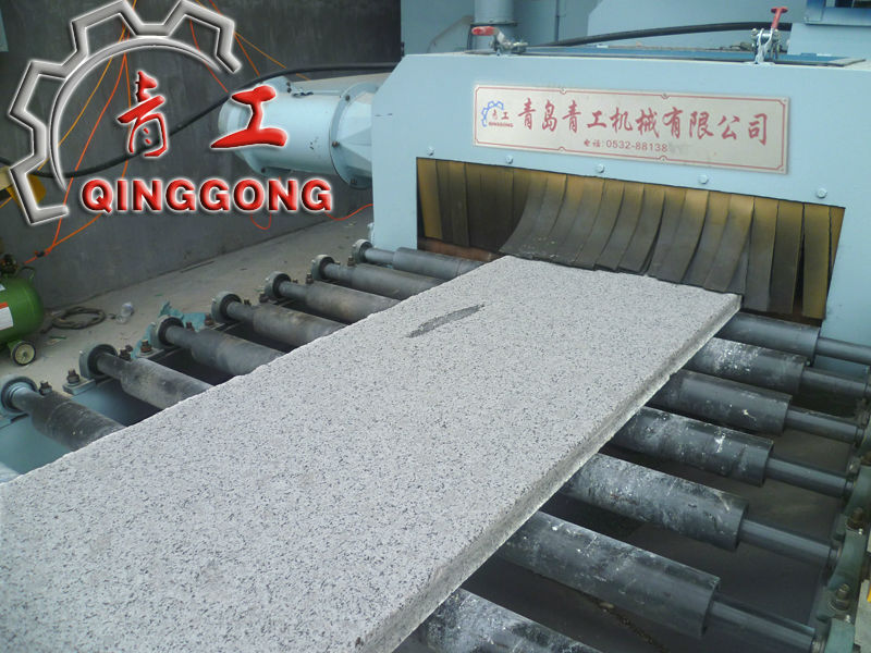 Stone and Marble Slabs Shot Blasting Machine