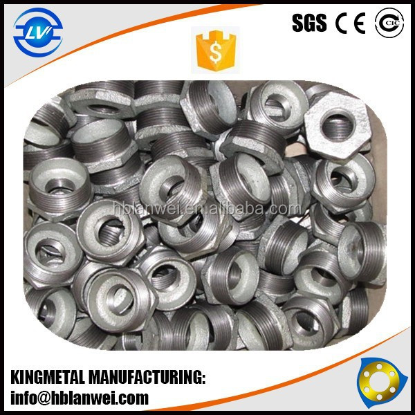 FIG NO.241 Bushing Hot Dipped Galvanized Malleable Iron Pipe Fittings