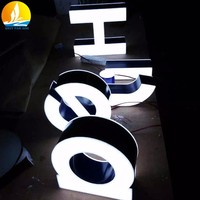 metal letter sign good looking electronic led sign high brightness metal logo