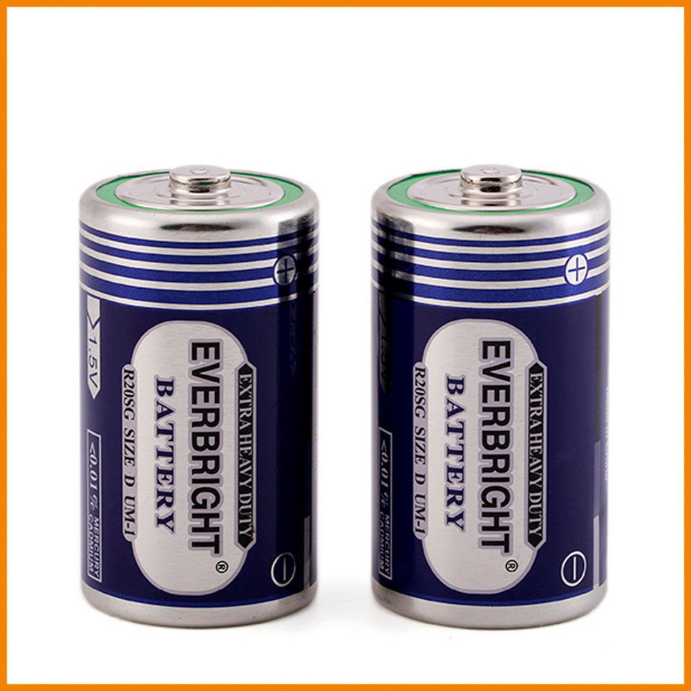 China manufacture r20 d dry battery cell for torch