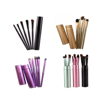 5pcs portable multi color maquiagens makeup kit refillable aluminium handle custom logo makeup brushes
