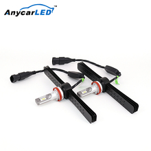 Anycarled Hot Selling Aveo Auto Car Replace Halogen Head Lamp Getz9003 H7 H11 Led Headlight For Accent06