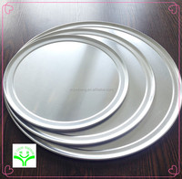 manufactory price FDA ,LFGB,SGS certificates round shape oven pizza container aluminum coups pizza tray without rim