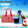 Wholesale foldable soft dog kennel pet carriers/pet carrier/lovely red and blue lattice soft dog carrier bag