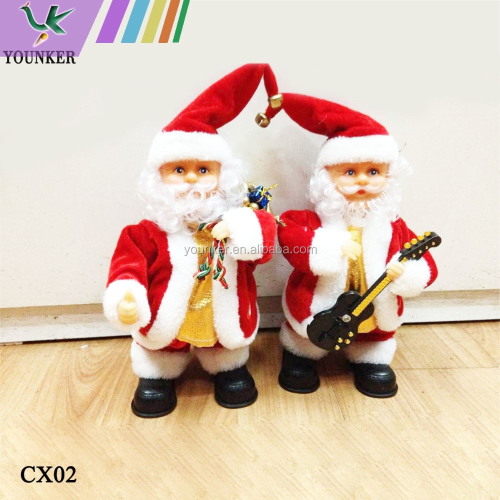 12 inch Power Singing And Dancing Christmas Cap Playing Santa Claus