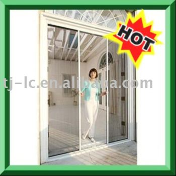 Roller french door screen buy retractable screens door for French door magnetic screen