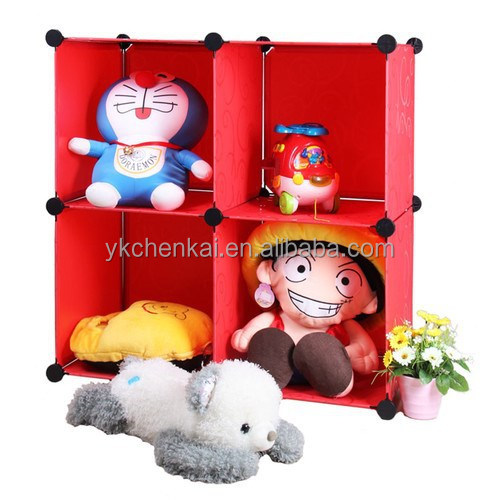 4 cubes DIY plastic children toys storage cabinets for sales(YK-1011)