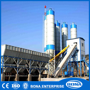 HZS dry mix concrete batching plant for pipe making