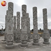 Natural Granite Carve Stone Cultural Column