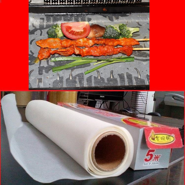 silicone coated vegetable parchment baking paper or common baking paper