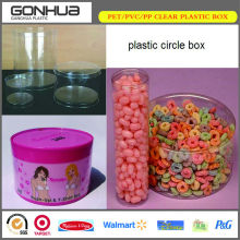 PET food container disposable circle box small clear plastic square cylinder tube for sweet candy