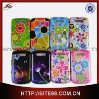 Water transfer 2 in 1 pc silicone case For Blackberry 9800