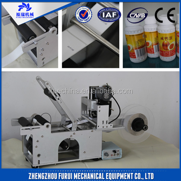 Cheap price manual bottle labeler for sale/manual round bottle sticker label machine