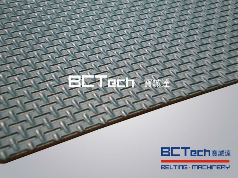 Heat <strong>resistant</strong> Industrial PVC pattern conveyor belt china factory