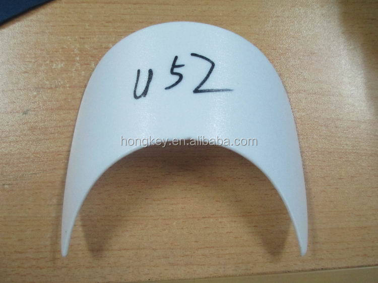 curved plastic insert brim for hat