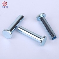 Cheap Flat Head Aluminum Semi Tubular Rivets