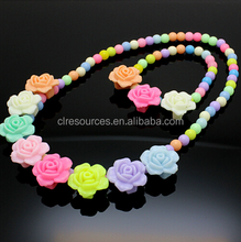 children jewellery set acrylic beads setlovely princess necklace many color and style